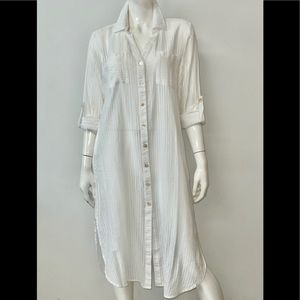 NWT CLUB Z COLLECTION MAXI SHIRT COVERUP